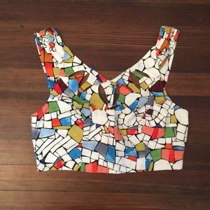 Colorful Maeve crop top
